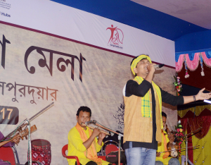 Young artist Himadri Dewri performing at Mela 6