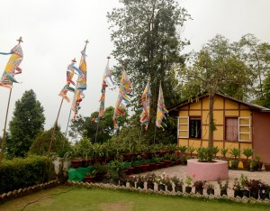 Beautiful decoration of a house at Kalimpong