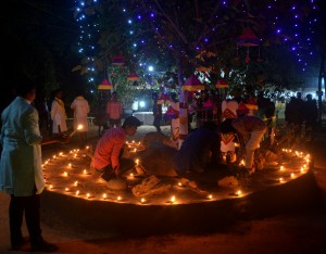 Beautiful evening decoration in Tepantar