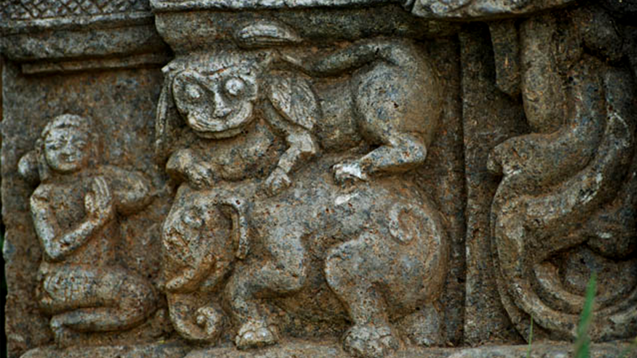 CARVINGS ON A TEMPLE