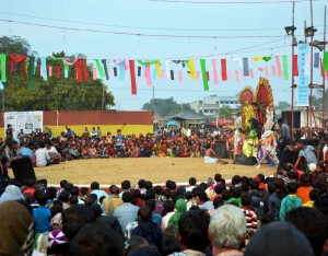 Chau Dance at Bamnia, Purulia