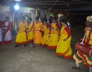Folk dance during Sunderban Folk Festival 2017