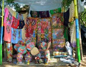 Patachitra craft stall at Patachitra Mela, Chandipur