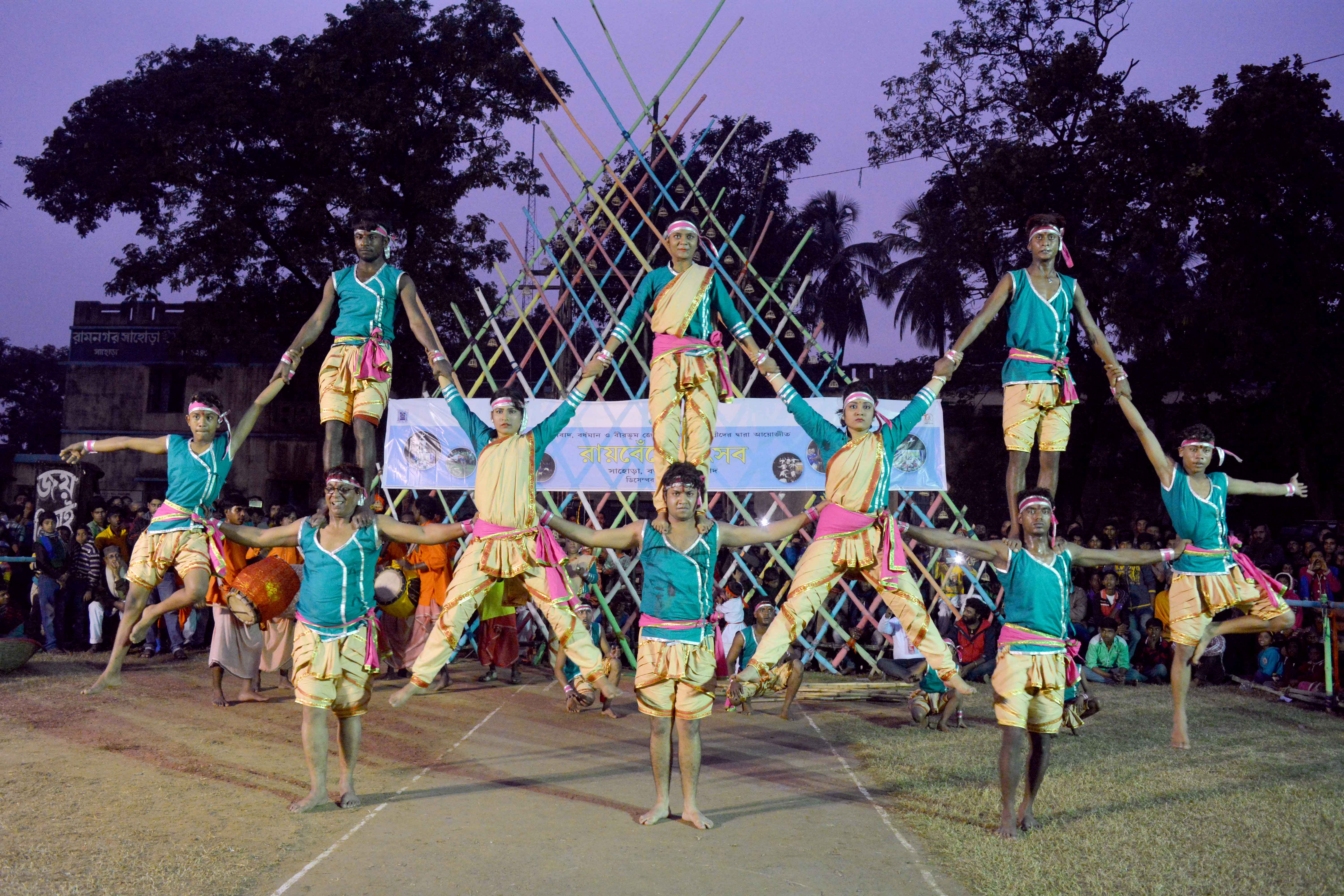 Raibenshe performance at Burwan, Murshidabad