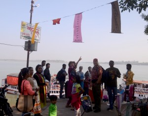 Visitors at Suderban during Sunderban Folk Festival 2017