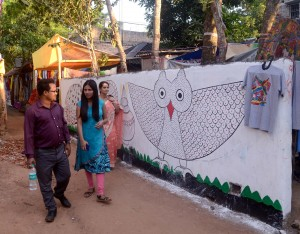 Wall decoration of Patrachitra village, Pingla