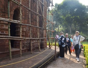 Historical Bishnupur temple visit by ICOMOS team