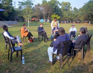 ICOMOS team interaction at Tepantar