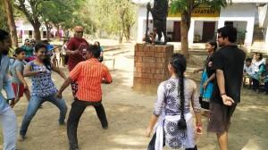 Learning Chau dance step